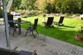 Terrasse und Garten . Ferienwohnung Parkvilla Bad Sassendorf