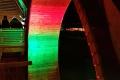 Feierliche Beleuchtung am neuen Gradierwerk Bad Sassendorf: Durchgang mit Ausblick (23.11.2019)