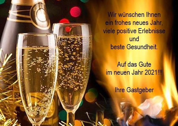Wir wünschen Ihnen ein frohes neues Jahr 2021!