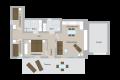Grundriss der Ferienwohnung in der Parkvilla Bad Sassendorf